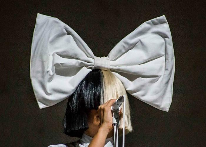 Singer Sia on stage